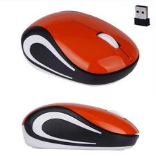 2.4 GHz Mini Cute Wireless Optical Mouse Mice For PC Laptop Notebook Orange