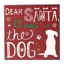 Heaven Sends Natale Caro Babbo Natale era il cane Metallo Segno Magnete Nuovo