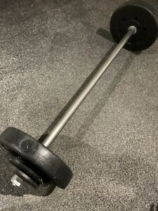 Barbell Curl Bar - Dumbbell Weight Lifting Triceps, Home Fitness Gym