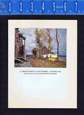 Sisley Landscape: Old Masons in Saint-Mammes - Autumn - Color Lithograph