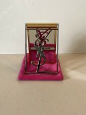 Yves Saint Laurent~ YSL Freestanding Makeup Mirror Table Mirror With Pink Pouch