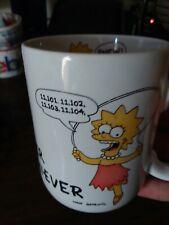 Lisa Simpson The Simpsons Coffee Mug OVERACHIEVER  Cup Tea 1990 VINTAGE COOL