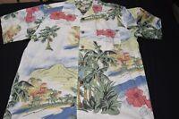 Joe Marlin Medium Seaside Village Cotton Rayon Short Sleeve Men's Shirt