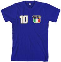 Threadrock Men's Team Italia Soccer T-shirt Italy Italian Flag