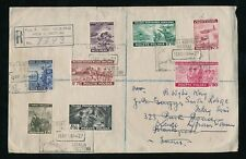 POLAND 1944 GOVERNMENT in EXILE REGISTERED to GB...8 values