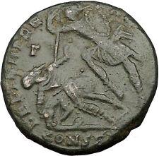CONSTANTIUS II Constantine the Great son Big Roman Coin Battle Horse man i35768