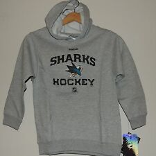 NHL Reebok San Jose Sharks Pullover Hooded Jacket New Youth M MSRP $40