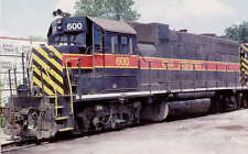 Iowa Interstate GP38 diesel locomotive train railroad postcard #142