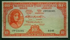 1962 Irish 10 shilling EIRE note Lady Lavery Central Bank of Ireland *[16466]