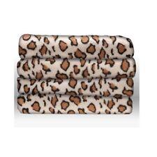 Sunbeam Faux Fur Ultra-Soft Heated Electric Throw Blanket - African Leopard