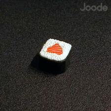Salmon Roll Keycap Handmade Resin Custom Artisan