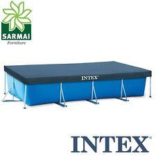 INTEX 28039 TELO COPRIPISCINA COPERTURA COPRI PISCINA FRAME CON TELAIO 450 x 220