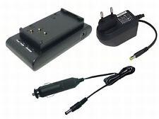 CARGADOR + CABLE DE coche para Sony ccd-fx340 ccd-fx400 ccd-fx400e ccd-fx410