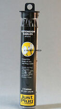 WOODLAND SCENICS EXTENSION CABLES FOR JUST PLUG LIGHTING SYSTEM wire end JP 5761