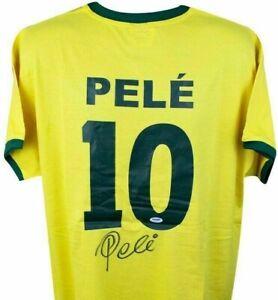 Pele Auto Autographed Signed Soccer Brazil Futbol Football Jersey PSA/DNA COA