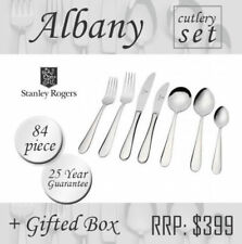 Stanley Rogers Albany 84 Piece Stainless Steel Cutlery Set Gift Box Stanley Roge