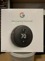 Nest Smart Learning Wi-Fi Programmable Thermostat, 3rd Gen, Mirror Black T3018US