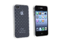Housse Etui Coque Silicone Gel Blanc Diamand ~ Apple iPhone 4 / iPhone 4S