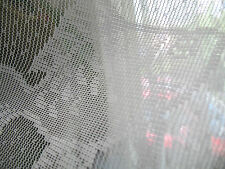 "FISH White NEW (2) Window PANELS LACE seascape set 60"" wide x 36"" length"