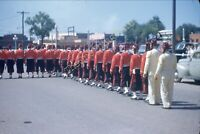 Amarillo Texas Parade 35mm Slide 1950s Studebaker Sign Car Lot Vtg Street View