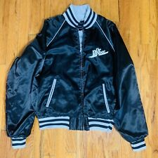 Vintage Dr. Pepper Satin Jacket Reversable Black and Gray Rare Employee Owned