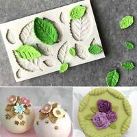 Flower Leaves Silicone Fondant Mold Chocolate Sugarcraft Mould Cake Decor Baking