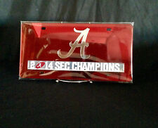 University of Alabama Red Mirrored 2014 SEC Champions Car Tag