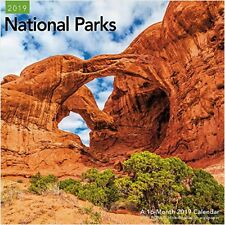 NATIONAL PARKS - 2019 WALL CALENDAR - BRAND NEW - SCENIC TRAVEL LME308