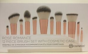 BH Cosmetics Rose Romance 12 Piece Makeup Brush Set New Genuine Vegan