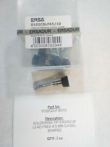 ERSA 0102CDLF65/10  Soldering Tip, Chisel-shaped (Pack of Ten)