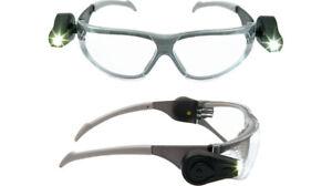 3M 11356-00000M LED Light Vision Safety Glasses Anti-Scratch/Anti-Fog Clear Lens