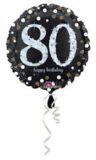 "80th Birthday Decorations Party Supplies 80 yrs old Mylar 18"" Balloon Sparkling"