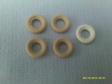 Dinky x4 replacement tyres 17mm yellowed white smooth A