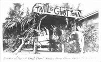 Amusement Cowboy Buena Park California 1940s RPPC Knotts Berry Postcard 3248