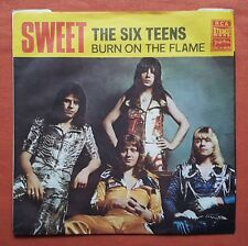 THE SWEET-THE SIX TEENS/BURN ON THE FLAME YUGOSLAVIAN 7'' PS UNIQUE COVER 1974