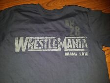 Wrestlemania 28 Long Sleeve Shirt M Medium WWE Distressed looking Great Cond.