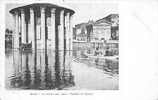 7658) ROMA, LA PIENA DEL 1900, TEMPIO DI VESTA, ANIMATA, BARCA A REMI. VIAGGIATA