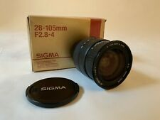 Sigma 28-105mm Aspherical  f2.8-4 Zoom Lens - For  Nikon -  Caps & Hood