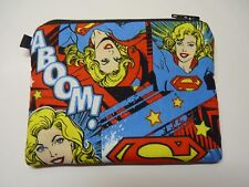Super Girl  Woman Handmade Change Coin Purse    Gift Card Holder