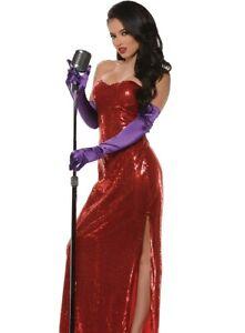 Jessica Rabbit Costume Dress Adult Roger Lovers Sequin Corset - XL 16-18