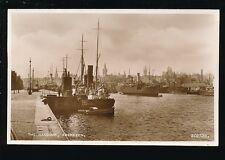 Scotland Aberdeenshire ABERDEEN Harbour Boats c1920s? RP PPC by Valentine