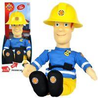 Sprechender Feuerwehrmann Sam | Plüsch Figur | 30 cm | Sam Puppe mit Sound