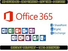 5x Microsoft Office 365 2016 - For Windows, Mac & Mobile - IMMEDIATE DELIVERY!