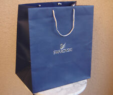 "Swarovski Large Blue Shoppinng Gift Bag wilver Cord Handle 17.5"" H by 15.5"" W"