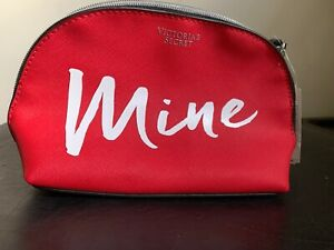 VICTORIA'S SECRET COSMETIC BAG MAKEUP POUCH CASE MINE RED NWT