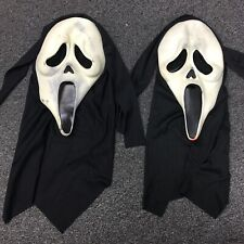 VTG LOT 2 Easter Unlimited Scream Ghostface Halloween Masks Used SOLD AS IS