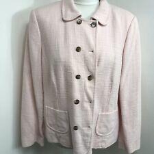 Viyella Pink Petites Tweed Jacket Uk 16 P