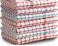 Kitchen Tea Towels Pack Of 12 Terry Towels 100% Cotton Dish Cloths Cleaning