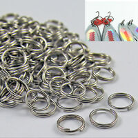 50/100 X Stainless Steel Split Rings Blank Lures Fishing Connector Lure Rin  FL