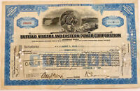 Buffalo Niagara and Eastern Power Corp > 1927 New York falls stock certificate